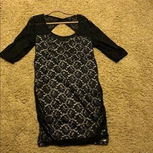 Torrid Midi Black Lace Dress Size 2